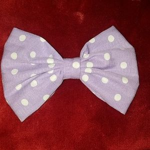 "5"" Purple Polka Dot RockABilly Hair Bow Clip"